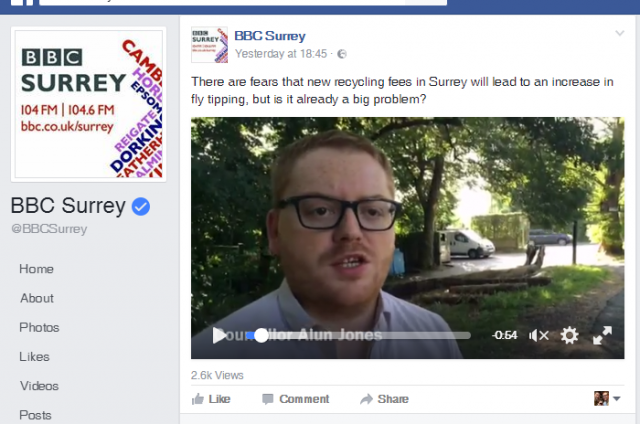 Alun Jones on BBC Surrey