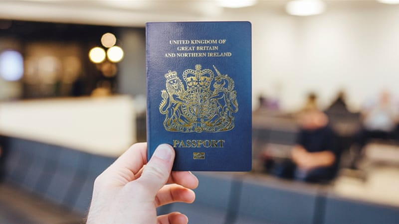 blue passport